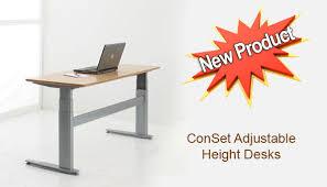 ConSet Adjustable Height Desks