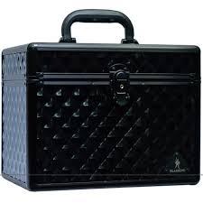 gladking makeup cosmetic hard case organizer bag black big small