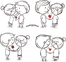 romance love couple cartoon