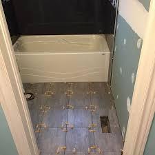 E Indoorprojects Tile Washroom Inprogress Bathroom Tile Job In Toronto  Area