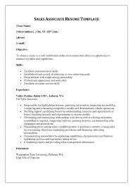 Resume Associate Resume Refrence Examples Writing Tips Objective Amazing Sales Associate Resume Skills