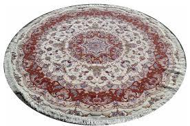 olia silk round tabriz persian rug