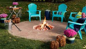 completed in ground patio fire pit
