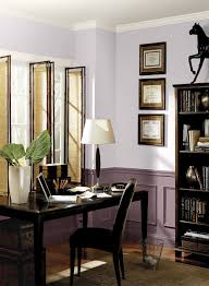 office wall color. Layered Purple Home Office! Upper Walls Color: Dreamy Cloud - Wainscoting Mulberry Wine Ceiling \u0026 Trim Simply White Office Wall Color E