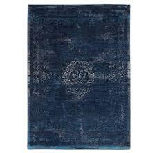 vintage style rug blue night