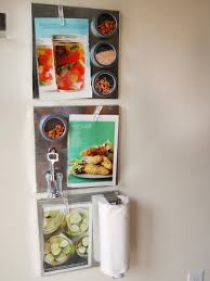 Empty Kitchen Wall Maximize Space With Diy Magnetic Shelves In The Kitchen Hgtv