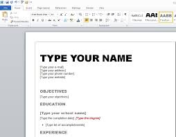 How To Create A Resume On Word Magnificent Create Resume In Word Best Resume Gallery Create Resume In Word