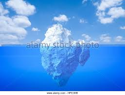 iceberg theory stock photos iceberg theory stock images alamy 3d rendering iceberg floating on blue ocean stock image