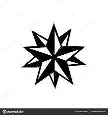 Tattoo Hvězdy Stencyl Design Připravené Pro Tisk Stock Vektor