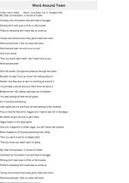 Word Around Town Lyrics Kevin Gates