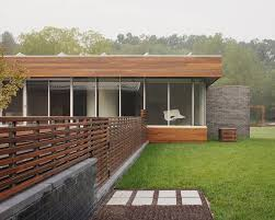 Small Picture horizontal slat fence Exterior Contemporary with brick wall corner