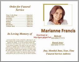 Simple Funeral Program Template Free Rome Fontanacountryinn Com