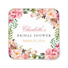 wedding shower images. Romantic Chic Floral Wreath Wedding Bridal Shower Square Sticker Images S