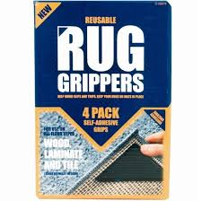 4 x rug grippers mat non slip reusable carpet washable diy ruggies self adhesive