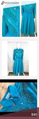 VTG 90s Western Square Dancing Dress Fringe M Vintage 90's Lilia Smith  Original Western Wear Fringe Detail Dress… | Dance dresses, Fringe detail  dress, Modern dress