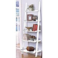 Amazon.com: White 5-tier Leaning Ladder Book Shelf by eHomeProducts:  Kitchen & Dining