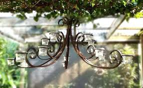 outdoor candle chandelier the 9 best outdoor chandelier images on in candle plan garden candle chandelier