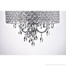 edvivi epg801ch chrome finish drum shade 4 light crystal chandelier ceiling fixture round b01akwnmji