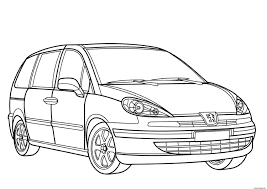 Coloriage Voiture Peugeot 807 Dessin Avec Dessin De Voiture
