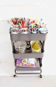 Use the IKEA Raskog cart to organize craft and more!