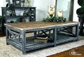 distressed grey coffee table ed mango wood gray