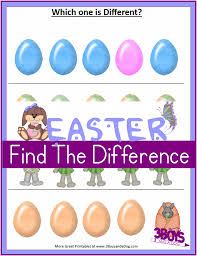 Printable Easter Worksheets: Spot the Differences – 3 Boys and a Dog