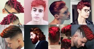 hombres con el pelo rojo