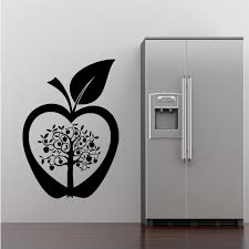 Wall Art For Kitchen Kitchen Apple Tree Flower Modern Wall Art Sticker Decal Transfer