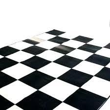black and white checd rug large checker area floor runner