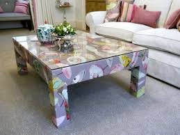 Upholstered Coffee Table Diy Upholstered Coffee Table Ottoman Home Decorating Four Thippo