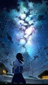 Galaxy, anime, bonito, galaxy, girl ...