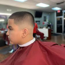 Maybe you would like to learn more about one of these? High Mid Bald Fade With An Edge Up For Lil Man Barber