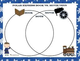 Book Vs Movie Venn Diagram Polar Express Movie Party Ticket And More Stuff For