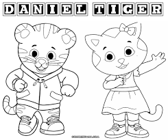Tiger Coloring Book Color Pages With Daniel Printable Chronicles