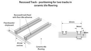 installing sliding doors onto tiles