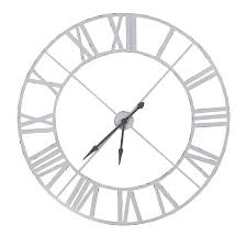 antique white steeple wall clock