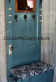 furniture made from doors. Turquoise Hall Tree Made Out Of An Old Door, Doors, How To, Painted Furniture From Doors R