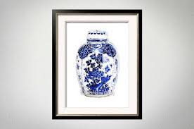 on blue and white wall art with blue ginger jar blue white wall art chinoiserie chic preppy