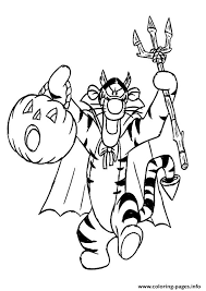 Small Picture Winnie the Pooh Friend Tiger disney halloween Coloring pages Printable