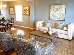 home staging before and after transitional living room austin