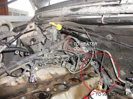 99 v10 coolant leak ford truck enthusiasts forums 2000 F350 Water Pump Diagram the second heater core hose, which is hard to see is the one that hooks up to that pipe on the manifold 2000 ford f350 water pump replacement