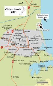 christchurch suburbs new zealand Map Of Christchurch Map Of Christchurch #38 map of christchurch new zealand