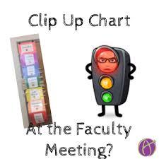 Clip Up Chart In The Faculty Meeting Teacher Tech
