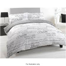 script luxury king size duvet set sleep easy with this cotton rich duvet cover set includes one duvet cover and two pillowcases natural or mono