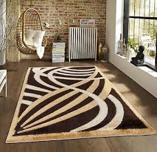 brown beige swirl stripes modern soft gy living room bedroom area rug