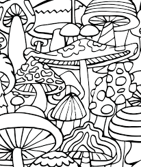 Small Picture Mushrooms CandyHippie Coloring Pages