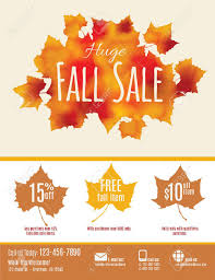 Fall Flyer Fall Sale Flyer With Watercolor Fall Leaves