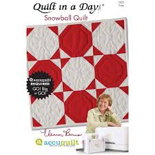 Quilt in a Day Snowball by Eleanor Burns| AccuQuilt.com & Quilt in a Day Snowball Quilt Pattern Booklet by Eleanor Burns ... Adamdwight.com
