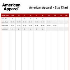 American Apparel Size Chart Please Read Store Policies And Pm Before Buying Depop