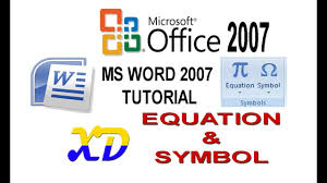 microsoft word 2007 tutorial part 16 on equation editor for word word symbols